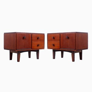 Teak Nightstands by Cees Braakman for Pastoe, 1950s, Set of 2