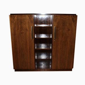 Art Deco Walnut and Rosewood Wall Unit, 1930s