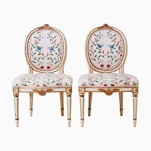Antike Gustavianische Stühle, 1900er, 2er Set
