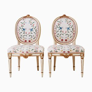 Antique Gustavian Chairs, 1900s, Set of 2