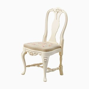 Swedish Rococo Style Hand-Painted Chair, 1930s