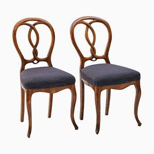 Chaises de Salon Rococo, 1900s, Set de 2