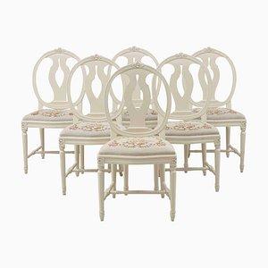 Vintage Rosenknospen Stühle, 6er Set