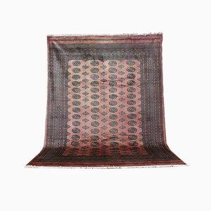 Handgeknüpfter indischer Teppich aus Kaschmirwolle auf Baumwolle, 1970er