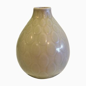 Yellow Faience Marselis Vase by Nils Thorsson for Aluminia & Royal Copenhagen, 1950s