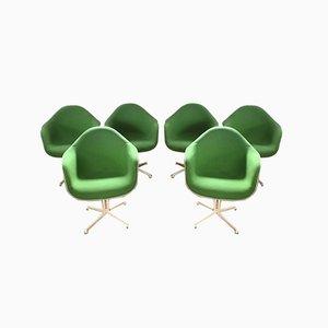 Mid-Century Dax Armlehnstühle von Charles & Ray Eames für Herman Miller, 6er Set