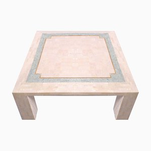 Pink Marble Stone Mosaic Coffee Table by Robert Marcius for Casa Bique, 1970s