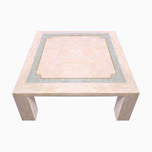 Tavolino da caffè in marmo rosa con mosaico di Robert Marcius per Casa Bique, anni '70