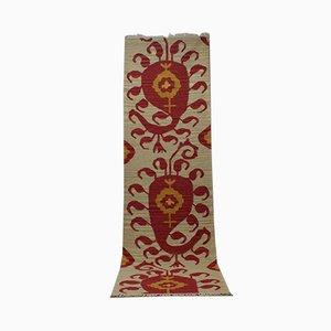 Handmade Beige Wool Kilim Carpet, 2001