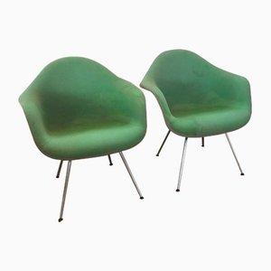 Mid-Century Dax Low Model Easy Chairs by Charles & Ray Eames for Herman Miller, Set of 2