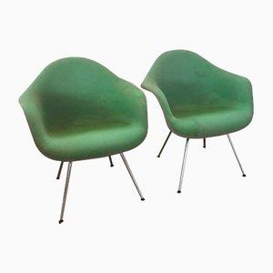 Niedrige Mid-Century Dax Sessel von Charles & Ray Eames für Herman Miller, 2er Set