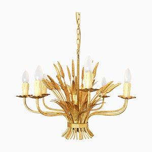 Vintage Hollywood Regency Blumen Deckenlampe von Hans Kögl