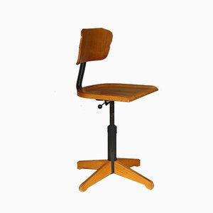 Drehbarer Bürostuhl Modell 350 R mit Rückenlehne von Ama Elastik, 1950er