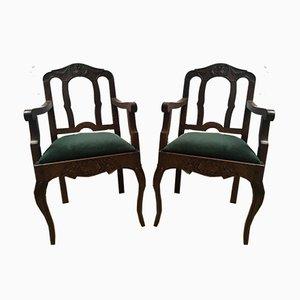 Vintage Louis XV Esszimmerstühle, 1940er, 2er Set