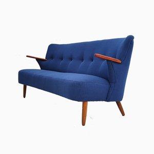 Dänisches Sofa aus Wolle und Teak, 1960er