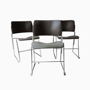 Chaises de Salon Modèle 40/4 par David Rowland pour GF Furniture, 1960s, Set de 7