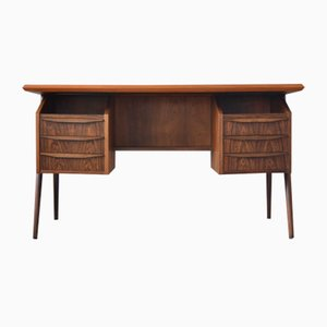 Danish Rosewood Desk by Gunnar Nielsen for Tibergaard, 1960s
