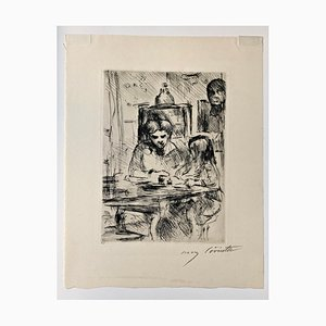 Impressionist Schoolwork Etching by Lovis Corinth, 1918