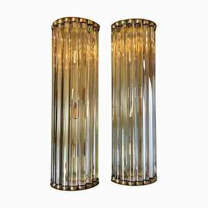 Large Mid-Century Italian Sconces by Gaetano Sciolari, 1950s, Set of 2