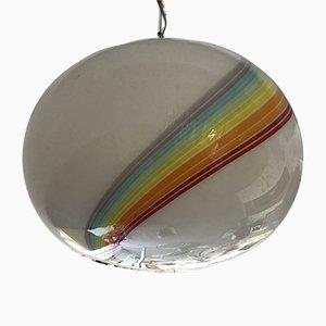 Lámpara de techo en forma de globo de cristal de Murano de Gino Vistosi, años 80