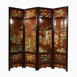Lackierter und Bemalter Chinesischer Raumteiler, 1960er