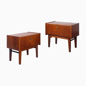 Danish Style Teak Nightstands, 1950s, Set of 2
