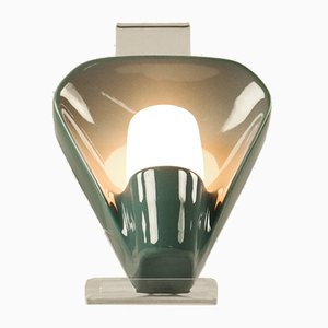 Blue Ceramic Model 6459 NOS Sconce by Wilhelm Wagenfeld for Lindner, 1970s