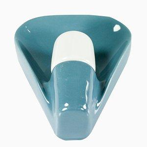 Blaue Modell 6459 NOS Wandleuchte aus Keramik von Wilhelm Wagenfeld für Lindner, 1970er