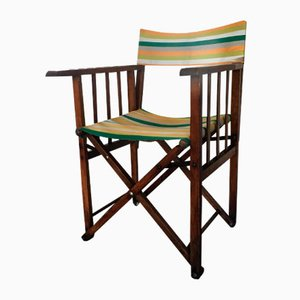 Vintage Folding Safari Chair, 1940s