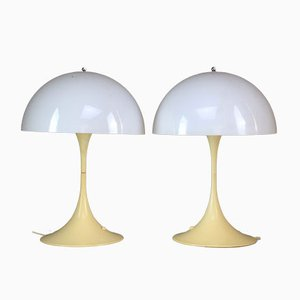 Lampes de Bureau par Verner Panton pour Louis Poulsen, Danemark, 1970s, Set de 2