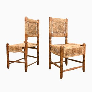 Vintage Mexican Rattan Chairs, Set of 2