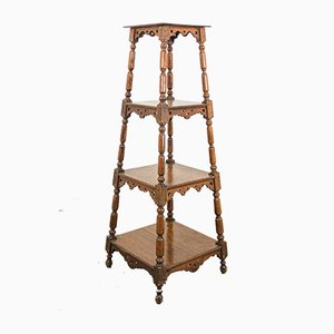 Antique French Oak Freestanding Shelf