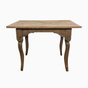Mesa antigua pequeña de madera de olmo