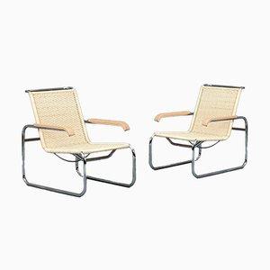 S35 R Freischwinger Sessel von Marcel Breuer für Thonet