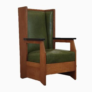 Rationalist High Back Chair by Hendrik Wouda for Pander, 1920s