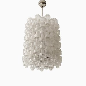 Mid-Century Crystal Festival Chandelier by Gert Nyström for Orrefors & Fagerhult
