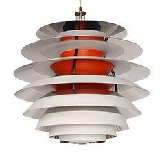 Vintage Pendant Contrast Lamp by Poul Henningsen for Louis Poulsen