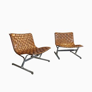 Italian Lounge Chairs by Ross Littell, 1960s, Set of 2