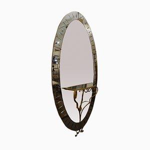 Großer Spiegel mit Konsolentisch von Cristal Art, 1950er