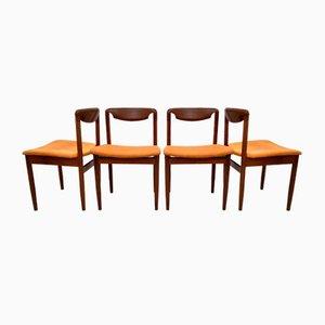 Teak Esszimmerstühle, 1960er, 4er Set