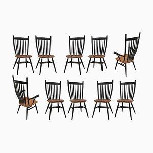 Deutsche Handgefertigte Studio Eichenholz Stühle von Fabian Fischer, 2019, 10er Set