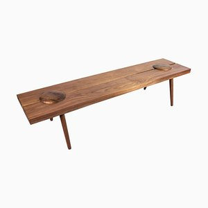 Studio Dome Bench or Coffee Table in Figured Walnut by Michael Rozell, USA, 2020