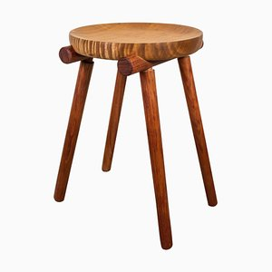 Studio Stool in Silk Wood and Bubinga by Michael Rozell, USA, 2020