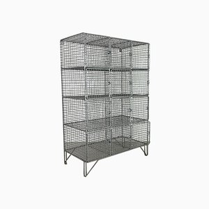 Vintage Wire Mesh School Locker, 1960s