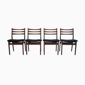 Dänische Esszimmerstühle mit Sprossen, 1960er, 4er Set