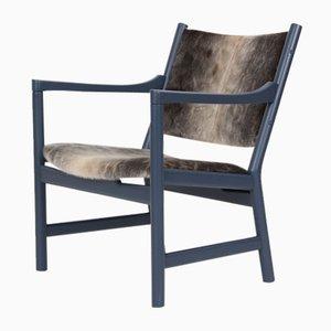 Vintage Sessel mit Fell von Hans J. Wegner für Carl Hansen & Søn