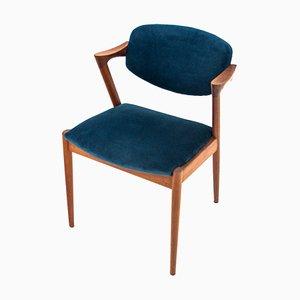 Dänische Modell 42 Esszimmerstühle von Kai Kristiansen, 1960er, 4er Set