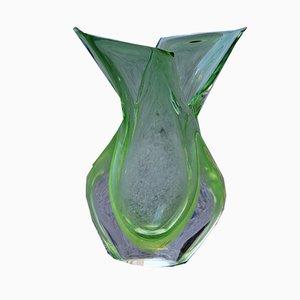 Sommerso Vase von Flavio Poli für Seguso, 1960er