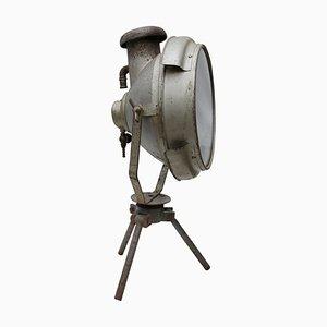 Industrielle Vintage Gaz Stehlampe aus Gusseisen und Glas