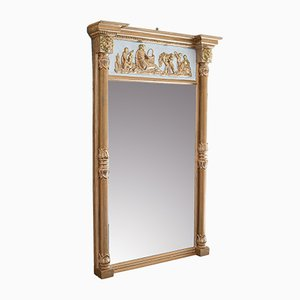 Antique Regency English Gilt Gesso Pier Mirror, 1820s